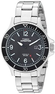 Timex Men's TW4B10900 Expedition Ranger Silver/Black Stainless Steel Bracelet Watch