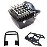 Black Tour pak pack trunk for Harley 2009-2013 touring Road King Electra glide &bracket