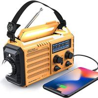 Weather Radio Raynic 5000mAh Solar Hand Crank Emergency Radio 5 Ways Powered AM/FM/SW/NOAA Weather Alert Portable Radio…