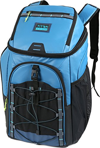 Arctic Zone Titan Guide Series 30 Can Backpack Cooler, Blue