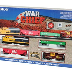 Bachmann Trains Santa Fe Chief Ready to Run HO Scale Electric Train Set 51IELcS85GL