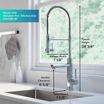 Kraus-KPF-1603SFACBMB-Artec-Pro-2-Function-Commercial-Style-Pre-Rinse-Kitchen-Faucet-with-Pot-Filler-Spot-Free-Antique-Champagne-BronzeMatte-Black