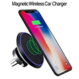Car Wireless Charger Magnetic for IPhone X- 8-8plus- For Samsung Galaxy Note 8 S8 S8plus S7 S7 Edge 5 S6 Edge Plus -Magnetic Wireless Car Charger-Qi Wireless Charger For Car, Auto Wireless Charger