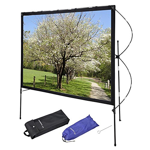 Instahibit 77' Portable Projector Screen with Foldable Frame Stand Outdoor Home Movie