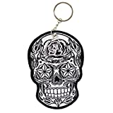 Hot Leathers Double Sided Key Chains, SUGAR SKULL - High Quality Embroidered PATCH KEYCHAIN - 3