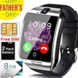Smart Watch Android Phone - [Free SIM Card + 8GB TF ] Cellphone Smartwatch for Men with Two-Way Call Music Player Camera Sync Function, Full Touchscreen Unlocked Sport Wrist Watch Gift for Father
