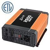Ampeak 2000W Power Inverter 3 AC Outlets DC 12V to 110V AC Car Converter 2.1A USB Inverter