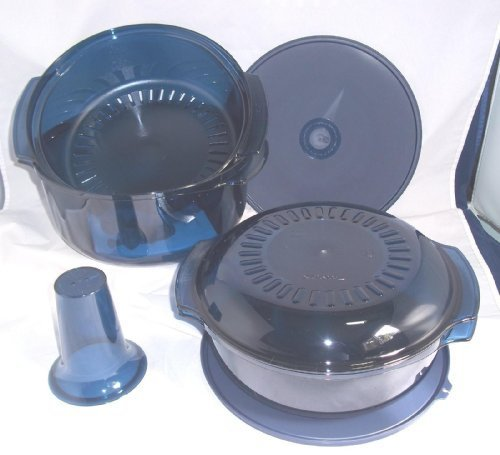 Tupperware-Microwave-Stack-Cooker-7pc-Cooking-Set-New-Nocturnal-Sea-Blue