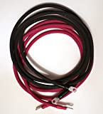 VLYNX 4-AWG 4 GAUGE 6 Foot Power Inverter Cable Kit [1 Black + 1 Red] 100% Copper, Industrial Grade High Quality Cables for Solar, Wind, Marine, Truck, RV, Home or Industrial use. MADE IN USA (2500W Max)