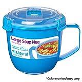 Sistema 21141 To To Go Collection Soup Mug, Large, Varied