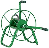 Yard Butler Handy Reel Easy Winding Heavy Duty Metal Garden 75' Water Hose Reel Low Profile Portable Ground Or Wall Mount- IHR-1GRN Green