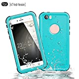 RedPepper iPhone 6/6s Waterproof Case[4.7-Inch], Full Sealed Underwater Protective Cover, Shockproof, Snowproof, Dirtproof for Outdoor Sports - Diving, Swimming, Skiing, Climbing (Blue)