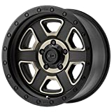 XD SERIES BY KMC WHEELS XD133 FUSION OFF-ROAD Wheel with BLACK and Chromium (hexavalent compounds) (17 x 9. inches /6 x 106 mm, -12 mm Offset)