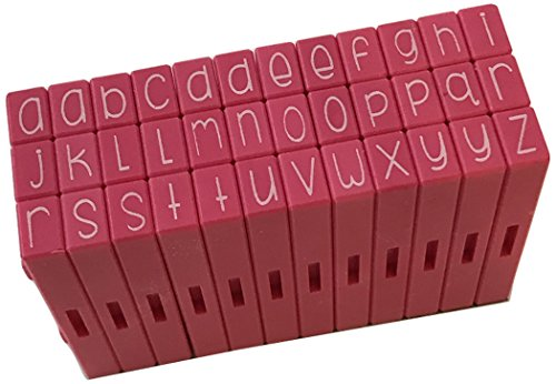 Pink and Main Pegz (36-Piece) Curvy Girl Font Stamps Lower, Pink