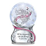 The Bradford Exchange My Daughter, I Wish You Musical Glitter Snowglobe with Heart Charm and Swarovski Crystal