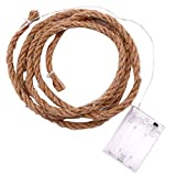 Snowlike_Home DIY Production Natural Hemp Rope Length 2M LED Lamp 20 Lamp Warm White Led Light Night Light