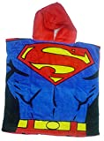 Superman Hoodie Hooded Poncho Towel - Licensed Superman DC Comics Merchandise