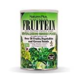 NaturesPlus Fruitein Revitalizing Green Foods High Protein Energy Shake - Tropical Fruit Flavor - 1.3 lbs, Vegetarian Powder - Plant-Based Meal Replacement - Non-GMO, Gluten-Free - 16 Servings