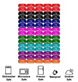 75 Personalized Waterproof Name Labels. Press and Stick Multi use Custom Name Labels. Customized 2 Lines of Text and Color. ID Identification Name Stickers with Permanent Self Adhesive.