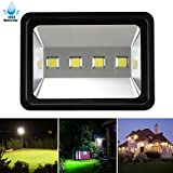 LuBao 200W LED Flood Light, 4 LED lights 20000lm Waterproof Super Bright 6000K White Light Spotlight Security Spotlights ,High Power Wall Lights for Outdoor Garden Landscape Playground AC 85-265v