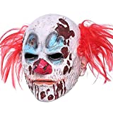 Halloween Clown Mask Full Head Latex Scary Clown Mask with Hair Mask for Halloween Cosplay (Clown Mask)