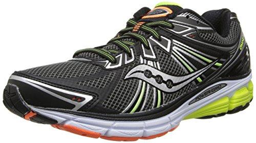 Saucony Men's Omni 13 Running Shoe,Black/Citron/Orange,12 M US