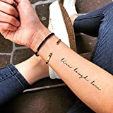Live Laugh Love Temporary Fake Tattoo Sticker (Set of 2) - www.ohmytat.com