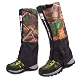TANDC Outdoor Waterproof Leg Gaiters Camo Breathable Camouflage for Hiking Climbing Hunting Snow Ski Boot Gaiters Snake Guard Legging Leg Cover Wraps