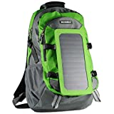 ECEEN Solar Charger Backpack With 7 Watts Solar Panel For Smart Cell Phones Tablets GPS Speakers Digital Cameras 5V Device Power Supply Cycling Trekking Climbing Hiking Backpacking Outdoors Activities