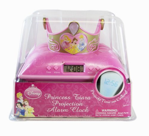 Disney Princess Tiara Projection Alarm Clock