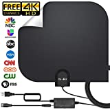 [2019 Upgraded] HDTV Antenna,Indoor Digital TV Antenna Amplified 140Miles Range Support 4K 1080P Free HD VHF Uhf & All Older TV's Digital Antenna with Amplifier Signal Booster,17ft Coax Cable