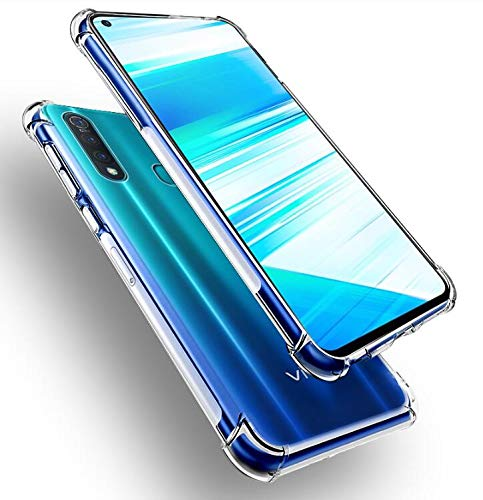 Prime Retail Bump Side Air Cushion Back Cover for Vivo Z1 Pro [Protective + Anti Shock Proof CASE], Dual Layer Transparent Ultra Clear Finish 97