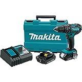 """Makita XPH10R 18V Compact Lithium-Ion Cordless Hammer Driver-Drill Kit (2 Amp), 1/2"""""""
