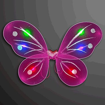 blinkee Light Up Fuchsia Fairy Butterfly Wings LED Halloween