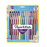 Paper Mate Flair Felt Tip Pens, Medium Point (0.7mm), Assorted Colors, 24 Count