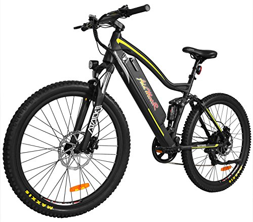 Addmotor HITHOT Electric Mountain Bicycle Sport Bike 500W 48V 11.6Ah Battery Electric Bike With Full Suspension 2018 H1 Platinum E-Bike(Yellow)