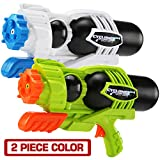 2 Pack Super Water Gun(No Leaking), Shoot Up to 40 Ft, High Capacity Water Soaker Blaster Squirt Toy for Swimming Pool Party Sand Beach Game Outdoor Summer FightActivity for Child Kid boy and Girl