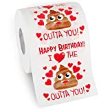 Husband Birthday Gifts by Aliza | Large Funny Gag Toilet Paper Roll - Excellent Gift for Wife Husband Boyfriend Girlfriend Friend Sister Brother Dad Mom -- The Perfect Decoration for Your Party