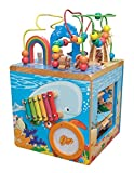 Under The Sea Adventures, Deluxe Activity Wooden Maze Cube - Perfect for Kids Play, Musical Activity, and Toddlers Early Developmental Skills