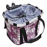 MyGift Multi Purpose Purple Bicycle Basket Carrier/Car Organizer with Drawstring Closure & Top Handles
