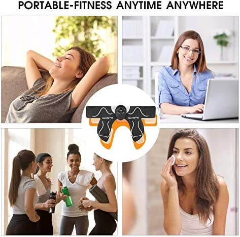 MOICO Butt Hip Trainer, 2020 Upgrade Muscle Toner Fitness Training Gear with 10 Pcs Free Gel Pads, Home Office Exercise Equipment, Ab Trainer Workout Equipment Electric Machine for Women Men Mom 9