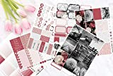 Vintage Summer Photograph Vertical Weekly Kit Planner Stickers for Erin Condren Life Planners All Planner Type Stickers