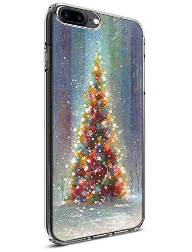 Ultra Slim iPhone 8 Plus (2017) / iPhone 7 Plus (2016) Case 5.5 Inch Colourful Christmas Tree