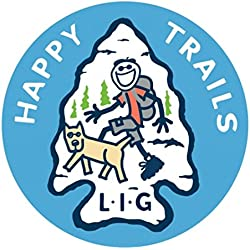 Life is Good Unisex Happy Trails Sticker, Miscellaneous, OS