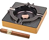OILP Cigar Ashtray Metal Outdoor Cigar Cigarette Ashtray for Patio/Home/Table Modern Ashtrays -(Square,Alloy)