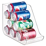 InterDesign Linus Refrigerator Soda Can Organizer - Beverage Holder for Kitchen Cabinet or Pantry, Clear