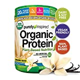 Purely Inspired Organic Protein Shake Powder, 100% Plant Based with Pea & Brown Rice Protein (Non-GMO, Gluten Free, Vegan Friendly), French Vanilla, 1.5lbs