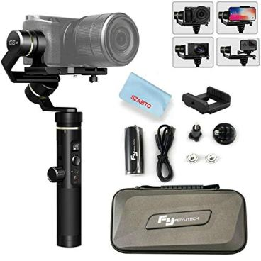 Feiyu-G6-Plus-3-Axis-Portable-Handheld-Gimbal-Stabilizer-G6-Upgrade-Ver-2018-for-GoproXiaomiYi-Cam-4KSony-Rx0iPhone-X-8-7-PlusSamsung-S9-S8and-Any-Cameras-Within-800gSplash-Proof-12H-Runtime