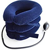 SafeMedika's Cervical Neck Traction Device - Effective Chronic Neck Pain & Shoulder Pain Relief Collar Inflatable & Adjustable - Cervical Collar for Home Traction Spine Alignment