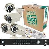 Mace 16-Channel 1TB DVR with 4 Color CCTV Bullet Camera System Kit MDIY-DVR164CKIT